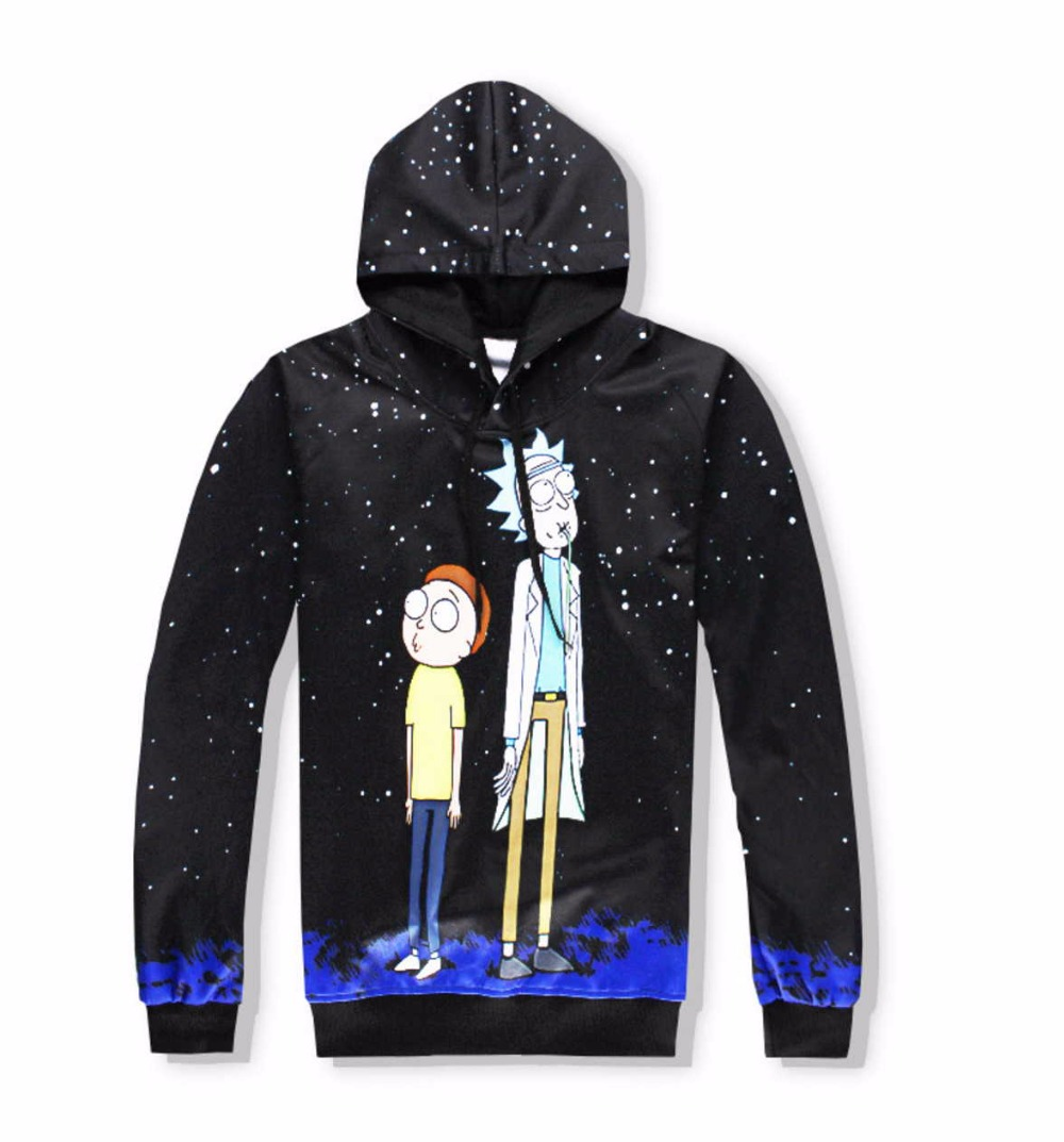 Casual Unisex Rick and Morty  Print Hoodies or Skinny Jeans (Sell by Separate) Anime Sweatshirt With Hat Spring Autumn Clothing Rick and Morty  Print Hoodies HTBcuQFXXXXX2XpXXq6xXFXXXY