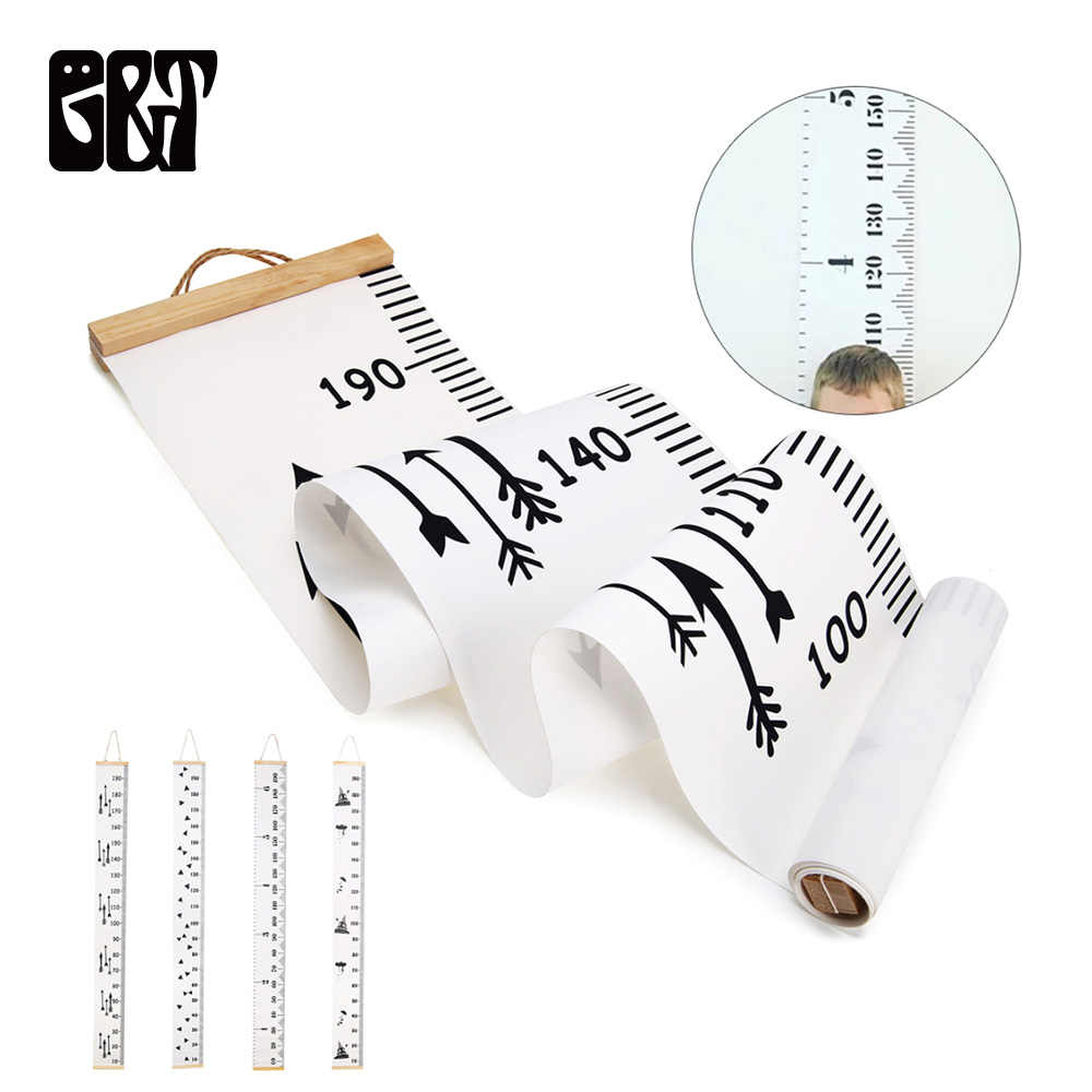 GT Wooden Wall Hanging Baby Height Measure Ruler Wall Sticker Decorative Child Kids Growth Chart for Bedroom Home Decoration
