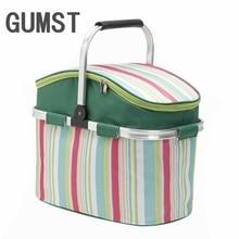 26L Oxford Shopping Basket Cooler Bags Foldable Handbag for Wine Food Fruits Keeping Fresh Lunch Bag for Women Kids Picnic bags