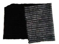 Натуральный мех норки Пелт натуральный черный натуральной черной норки натуральный мех кожи