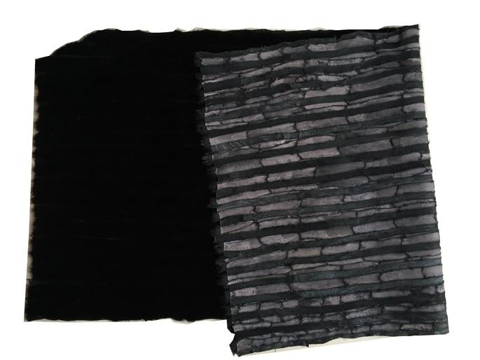Prawdziwe futro z norek skóra naturalna czarna prawdziwa czarna norek prawdziwa skóra futro