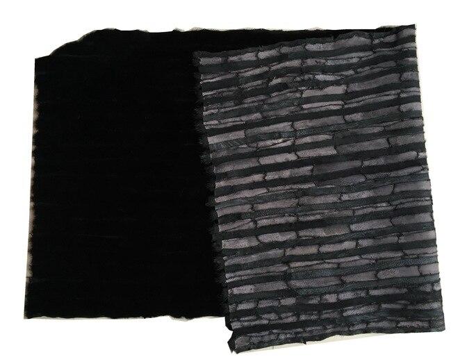 Véritable peau de fourrure de vison naturel noir véritable peau de vison noir véritable