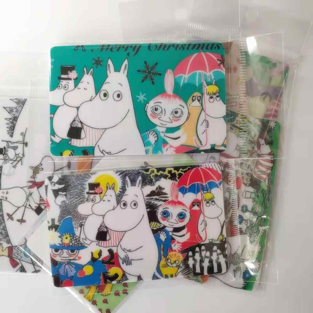 Moomin 2019 nieuwe bus kaart sticker speelgoed sticker kid muumi cartoon sticker leuke Finland karakter sticker telefoon mooie kleur sticker