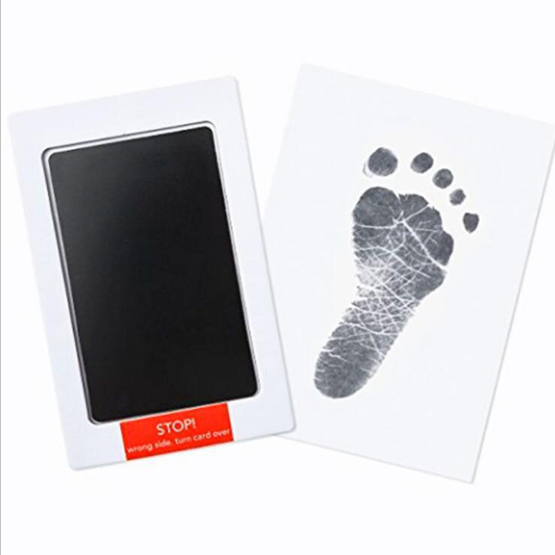 Baby Handprint Footprint Non-toxic Newborn Imprint Handprint Mud Watermark Baby Souvenir Casting Clay Toy Gift