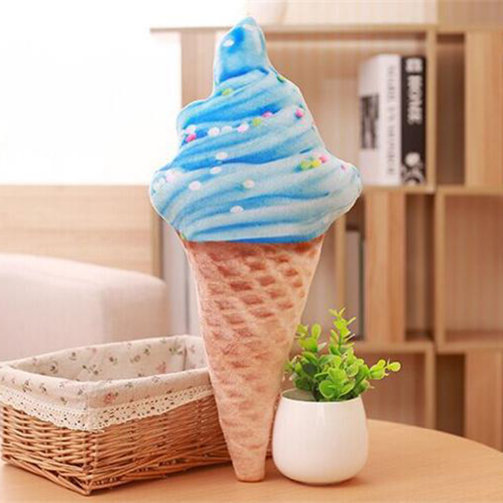 Creative Ice Cream Shape Cushion Pillow Toys Baby Food Plush Seat Cushions Home Decoration Children Stuff Doll Toys Gifts