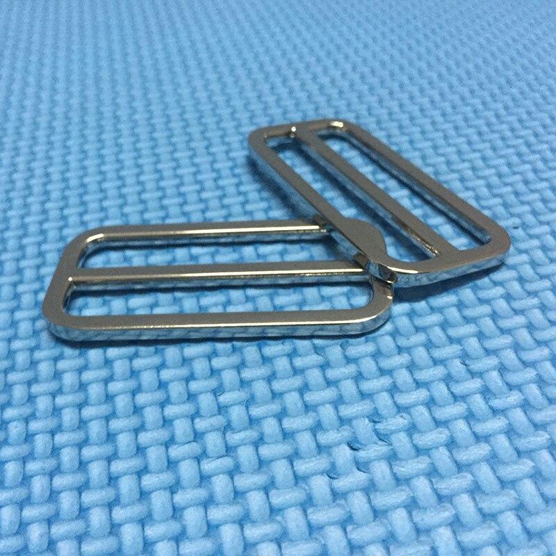 50pcs 2 Inch (50mm Inner)Tri-Glide Slider , Leather Strap Adjuster Slide Buckle