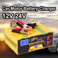 12V 24V Smart Car Motor Battery Charger 12 Volt Li ion Lithium Batterie Intelligent Power Charge Automatic Charging 8A 10A 100AH