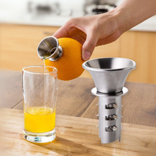 Gadgets limón manualmente exprimidor limón Juicer pourer tornillo limas naranjas cítricos jugo Acero inoxidable Herramientas
