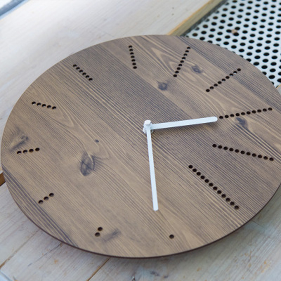Wood Wall Clock Simple Modern Design Creative Clocks for Living Room ...