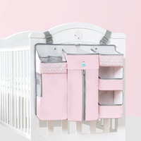 Baby Bed Hanging Storage Bag 3 Parts Easy Space Saving Organized Baby Diapers Bottles Diverse Function Mummy Convenient Helper|Insulation Bags| |  -