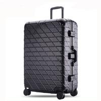 20 24 26 29 inches Trolley Suitcase Aluminum Rolling Luggage With TSA Lock Large Capacity mala de viagem Travel Suitcase