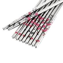 5 Pair/Set Stainless Steel Chinese Chopsticks Food sticks Plum Flower Pattern Chop Sticks Flatware Cutlery Household Kit