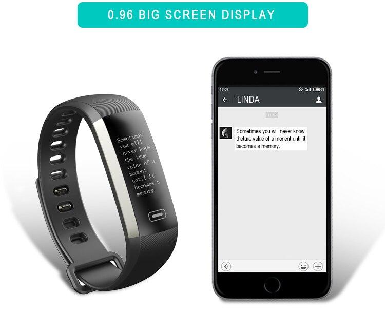 TEZER R5MAX smart Fitness Bracelet Watch intelligent blood pressure heart rate Blood oxygen 50 LETTERS SMS APP Message push 12