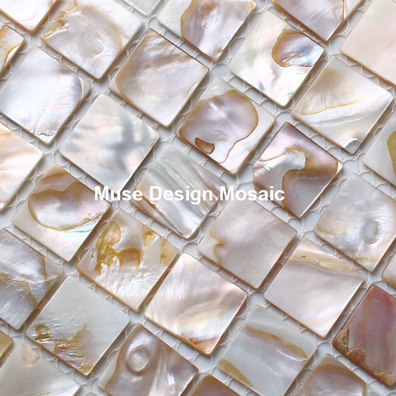 20mm Fashion decortaion Mother of pearl tile Natural Iridescent shell  mosaic tiles kitchen backsplash mosaic handwash - Popular Iridescent Tile Backsplash-Buy Cheap Iridescent Tile