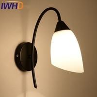 IWHD American Style Loft Retro Glass Vintage Wall Light LED Iron Vintage Lamp Industrial Wall Sconce Arandela Home Lighting