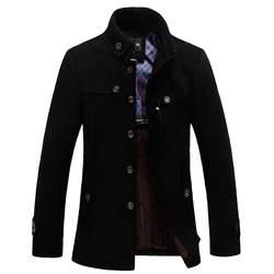 Новый Мужской Повседневный шерстяной Тренч Модный деловой длинный утолщенный Тонкий Пальто Куртка теплое зимнее шерстяное пальто Erkek Cocuk