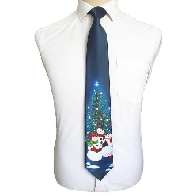 Corbata navideña de seda de calidad, 9 cm