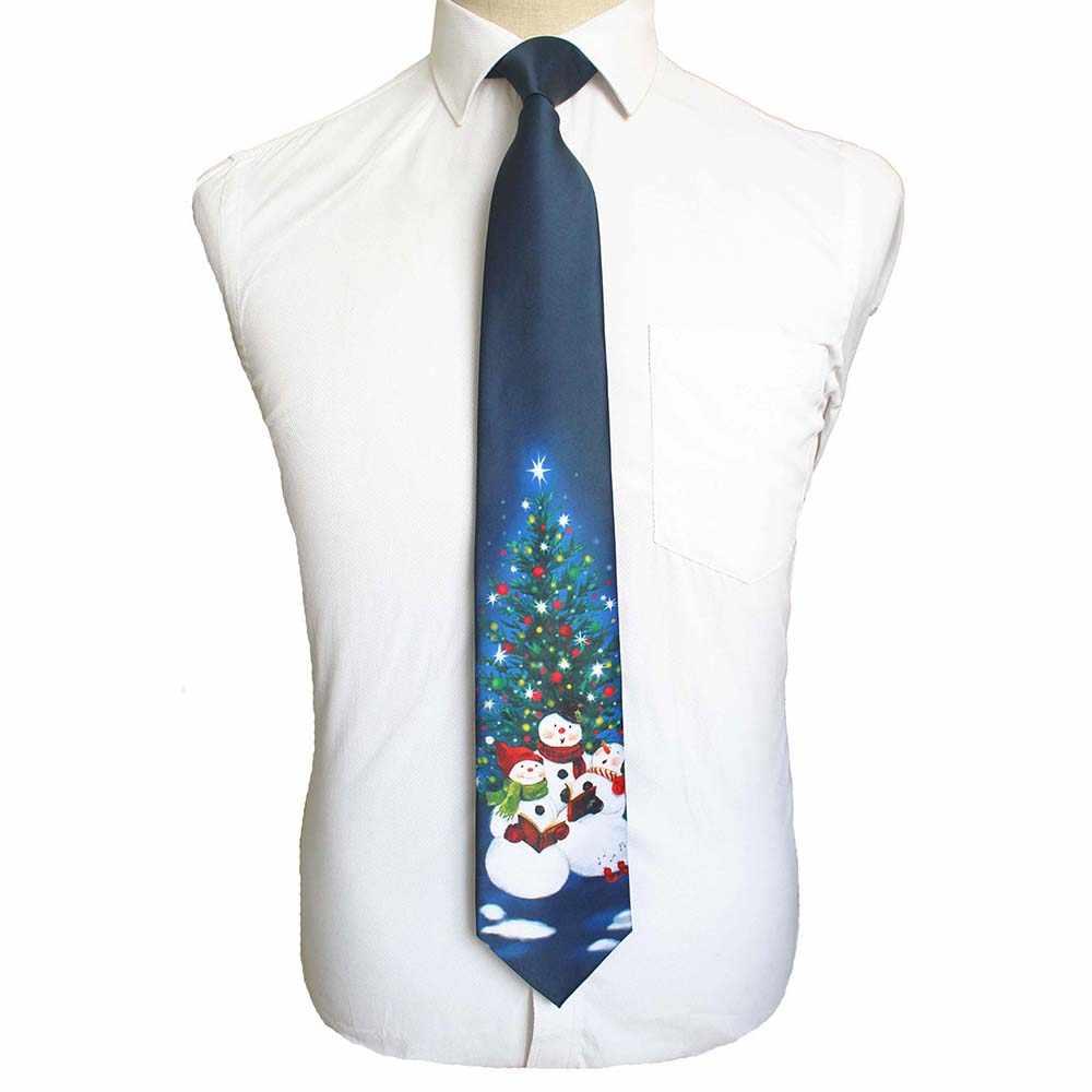 Gusleson qualidade seda gravata de natal 9cm moda masculina impressão gravatas helloween festival gravata macio designer caráter gravata