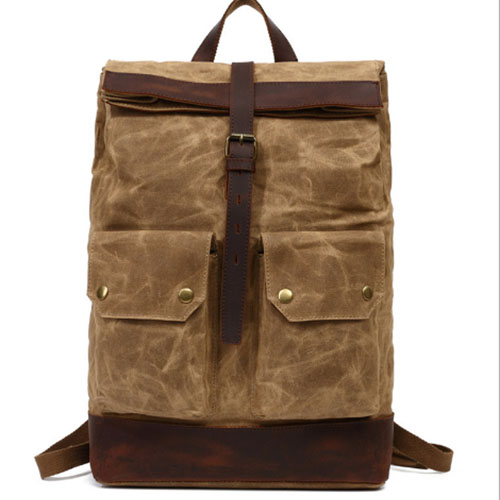 Men Large Capacity Travel Backpack Bag Waterproof Oil Wax Canvas Laptop Backpack Vintage College Style Casual Youth School Bags men s casual bags vintage canvas school backpack male designer military shoulder travel bag large capacity laptop backpack h002