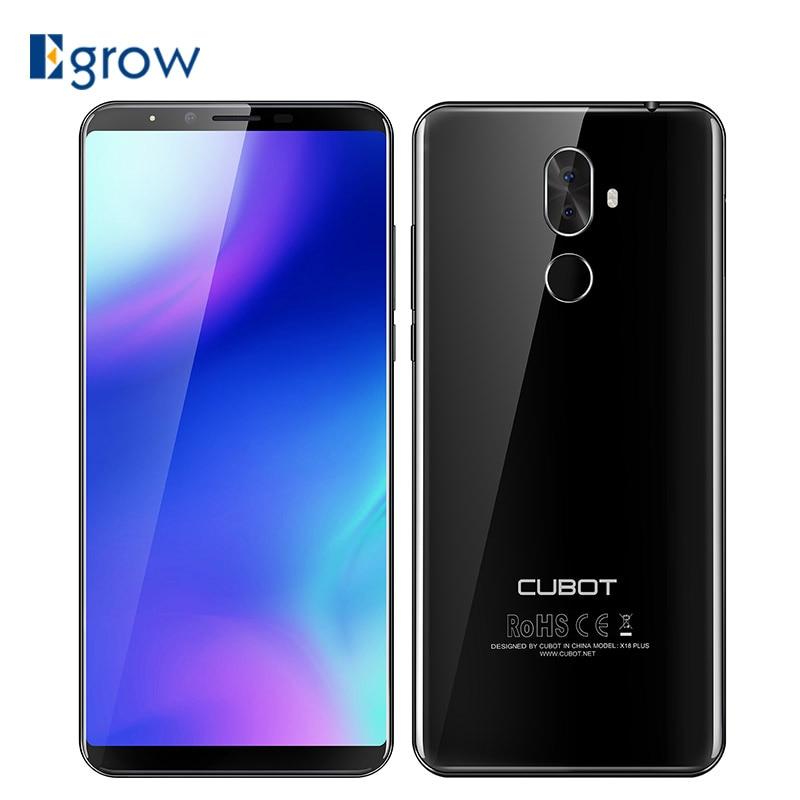 Cubot X18 плюс 5,99 Android 8,0 MT6750T Octa core 4 ГБ Оперативная память 64 ГБ Встроенная память смартфон Dual Камера 4000 мАч 4 г отпечатков пальцев мобильный телеф...