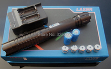 On sale Super Powerful! 100000mw/100w 450nm Blue laser pointer Flashlight Burning match/balloon/dry wood/cigarettes Lazer Torch+Gift Box