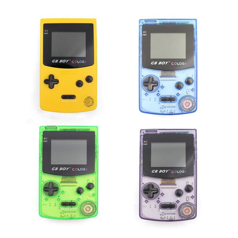 2020 novo gb menino cor clássica consoles de jogo handheld 2.7 player player jogador de jogo de bolso com retroiluminado 66 built-in jogos mando
