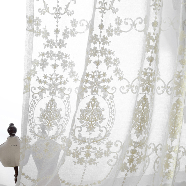 drapes l embroidered wide p linen curtain window grommet curtains boho extra set faux panel in of sheer pair ivory elements