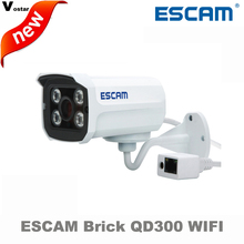 ESCAM Brick QD300 WIFI 1Megapixel HD onvif Network Mini wireless IR-Bullet Camera IR 15m waterprof ip66 p2p cloud Network Camera