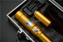 Best price Super Powerful Blue laser pointer 450nm 2000mw 2w LASER Flashlights Burning Match cigar cutting paper plastic+5 caps+Glasses
