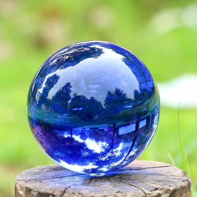 เอเชียสีฟ้าคริสตัลควอตซ์คริสตัล Healing Ball ทรงกลม 40 มม.+ ขาตั้ง AzZ
