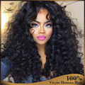 Brazilian Virgin Ombre Lace Wig Glueless Full Lace Human Hair Wigs Ombre Lace Front Wig Kinky Curly Human Hair 130% Density