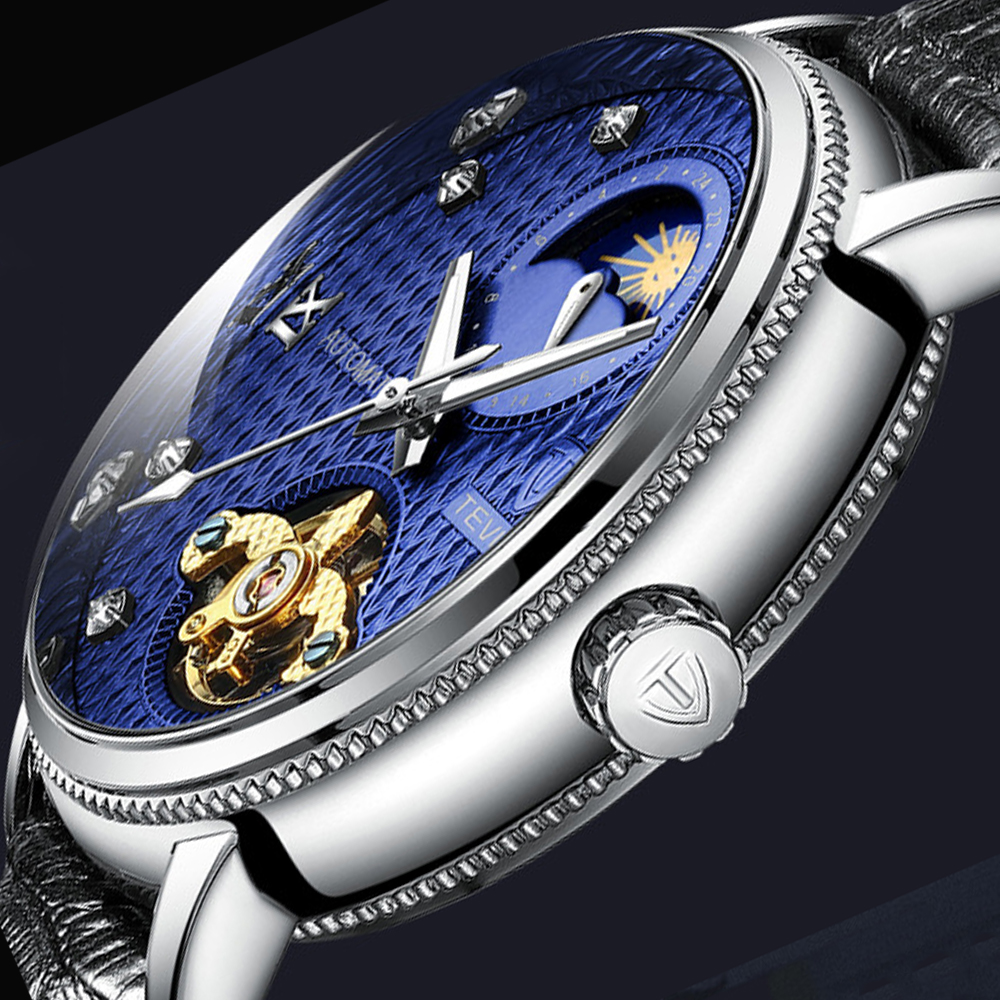 Tevise automatique Tourbillon mécanique montres étanche montre hommes marque de luxe Sport hommes montre auto Relogio Masculino