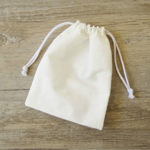 Image 2 - Bolsa de regalo para envoltura de joyería de algodón, 50 Uds., bolsa con cordón, bolsas de envoltura de regalo de caramelo para fiesta de maquillaje, bolsita de bolsillo con logotipo impreso personalizado