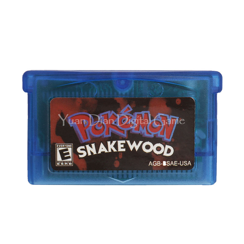 Nintendo GBA Video Game Cartridge Console Card Pokemon Series Snake Wood English Language Version