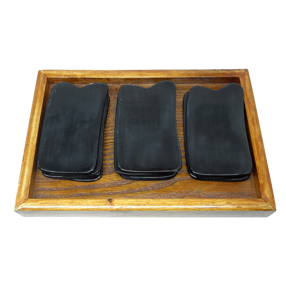 200pcs lot Good Quality Traditional Acupuncture Massage Tool whole body meridian Guasha board 100 Buffalo Horn Scrapping kit in Massage Relaxation from Beauty Health