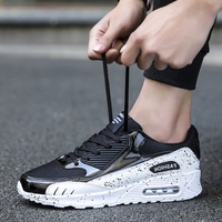 2018 Autumn Breathable Mesh Running Shoes for Men Air Cushion Sneakers Black Sports Shoes for Male Walking Shoes Jogging 90