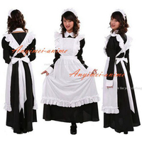 Sexy Sissy Maid Dress Cotton Lockable Dress Maid Uniform Cosplay Costume Tailor made