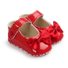 0~18month red color spring summer baby girls princess infantil shoes baby non slip-on first walkers shoe