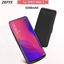 ZKFYS 6500mAh Large Capacity Ultra Thin Fast Charger Battery Cover For OPPO FIND X Charging Box Back Clip Case