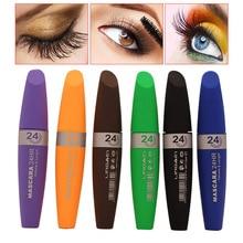 6 Colors  Ladies Eyelash Mascara Women Eyes Long-lasting Waterproof Dense Curling Eye Lash Cosmetics