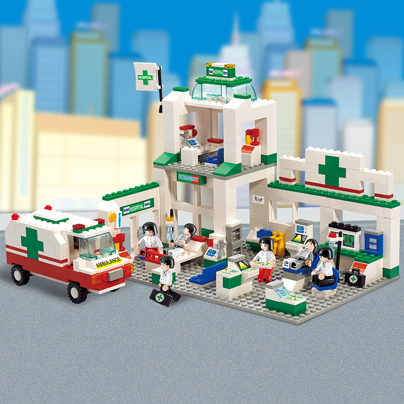 Sluban 5600 376 PCS Model building kits compatible with lego city Hospitals 3D blocks Educational model & building toys hobbies