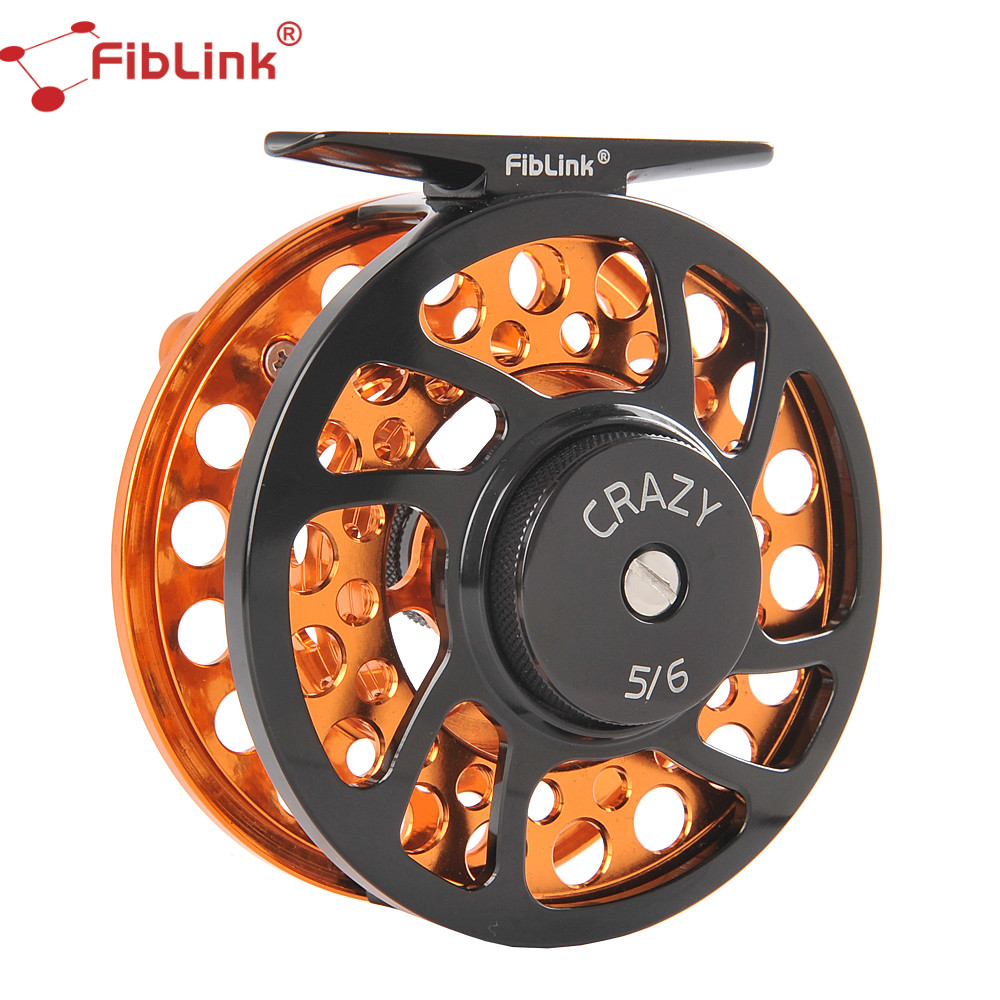 Fiblink 5 6 7 8 9 10WT Fly Fishing Reels CNC Machined Aluminum Alloy Body and