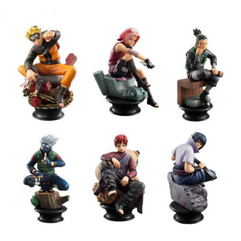 Naruto Figure High Quality Sasuke Gaara Shikamaru Kakashi Sakura Naruto Action Toys Figures Model Dolls Collection for Boys Gift 21cm naruto hatake kakashi pvc action figure the dark kakashi toy naruto figure toys furnishing articles gifts x231
