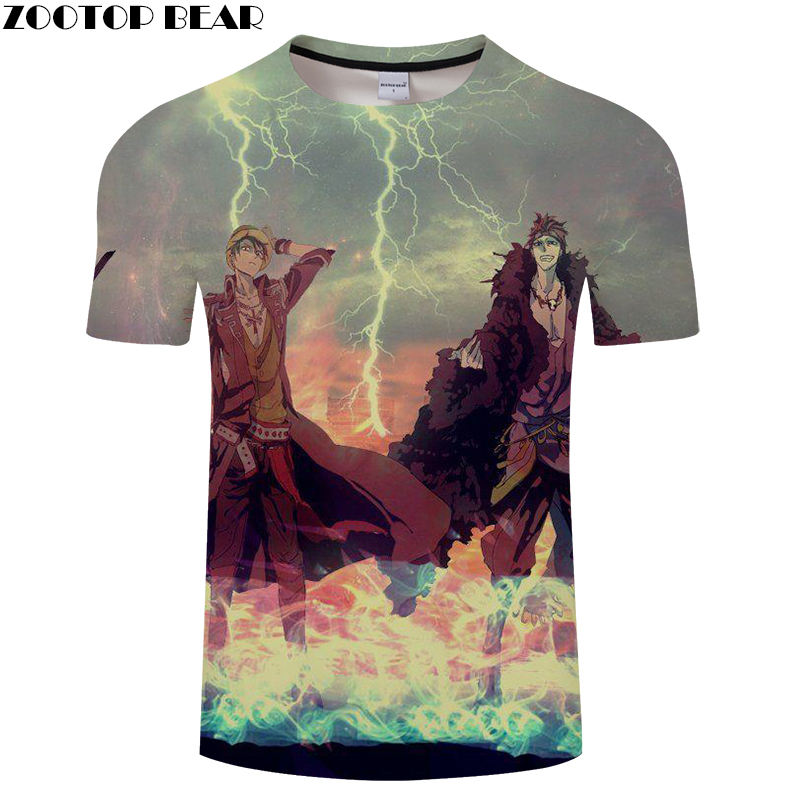 Justice Men T Shirts Movie Funny Boy Cool Short Tees Casual Shirt  Anime One Piece Brand t-shirt Breathable 3D Print ZOOTOP BEAR