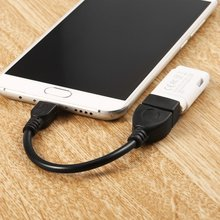 USB Female to Micro USB 5 Pin Male Adapter Host OTG Data Loader Charger Charging Cable USB OTG for Samsung