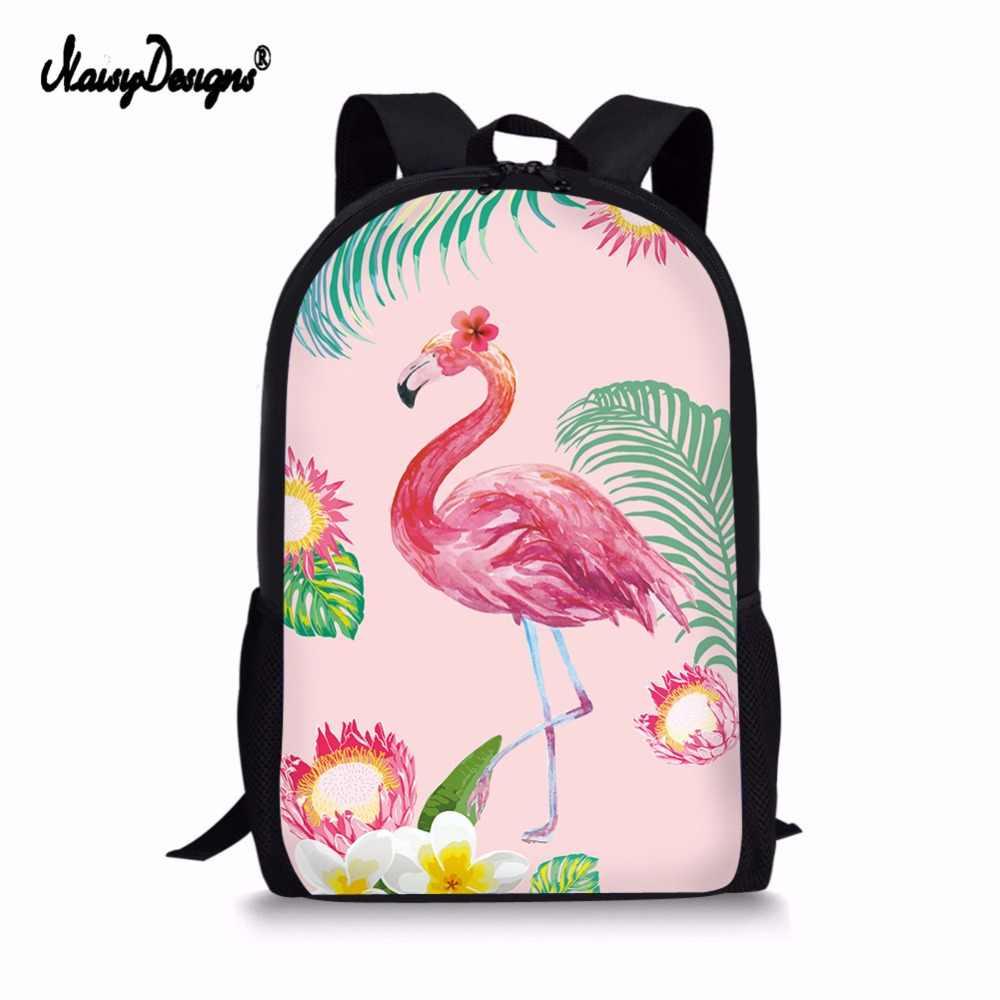School Bags Original Designer Flamingo Print Kids Girls Teen Backpack 2018  Brand Laptop Mochila Fashion Korean babdae0f3c1d2
