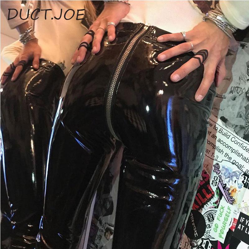 DUCTJOE New Pants Leggins For Women Sexy Hip Push Up Leather High Waist Women's Leggins High Quality Casual Sexy   Leggings   Pants