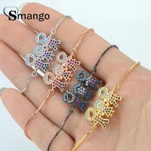 Women CZ Bracelet, Fashion Hand In Shape Connectors Four Plating Colors,Can Wholesale, 5Pcs