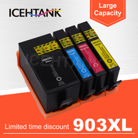 ICEHTANK Ink Cartridge For HP 903 907 903XL 907XL OfficeJet Pro 6950 6960 6961 6963 6964 6965 6970 6975 Printer For HP903