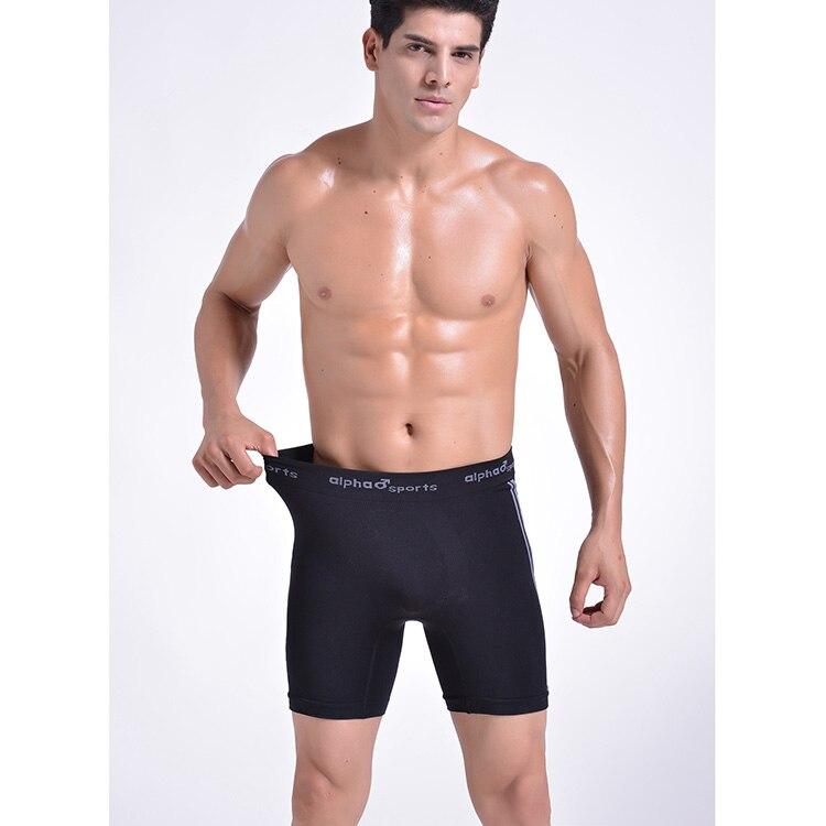 2015 Fashion European Style Men Underwear Men Long Leg Trunk Panty Sports Panties Boxers Yoga